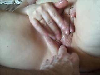 Simply wonderful pussy rubbing!! Be nice if I would lend a helping hand and two people could touch her all over and using her favorite toy to orgasm! ~Tom