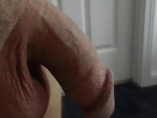 I think you have a thick cock and a great set of balls too!  I want to lick and suck them both!