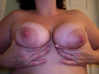I have wondered what it would feel like to have hard nipples in my mouth. Your big nipples made my nipples hard.