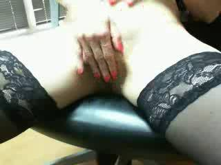 so loved watching you sitting in that chair legs open and your fingers playing and spreading your shaven lips...got me stroking along and i love the stockings...such a shame i cant hear you ...what a turn on you are and i see from your pics you like to get kinky too...my kind of girl...would so love to be yourtoy X