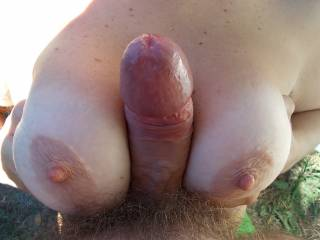 Luv to suck your tits & cock while my hubby fucks your awesome ass & pussy