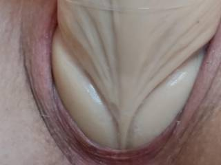 My husband is also hung up on stretching my pussy. Not sure why it drives him crazy but I am happy to please him by filling my pussy to its limits!