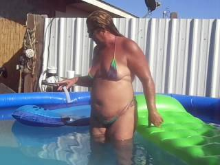 I would love to get in the pool with her...