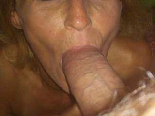 She looked up admiringly as she thought about how her pussy was gonna get cream pied!!!