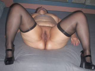 wife shows you her pussy