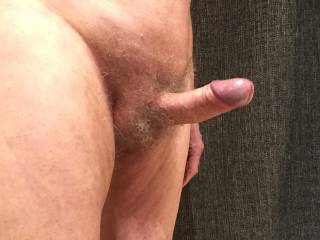 Just looking at your butt as you stand at the vanity unit I become erect and want you to rest your hands on the edge and pushing your butt towards me as you do so, bend forward a little so that I can just see your labia lightly covered in pubic hair.