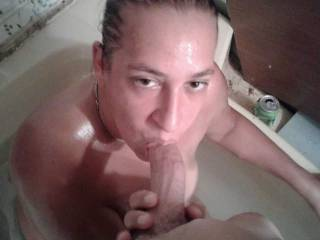 Bath time with fiance is so much fun