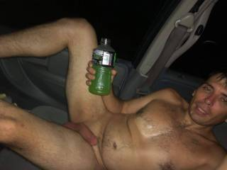 Jusy road naked through town on our way to a fuck buddy house