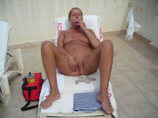 Maria first time nude in public