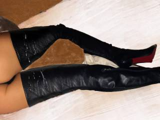 Do you want to continue leather's cum treatment? I need jizz until metal stiletto...