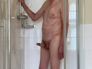 Having soaped 'Him' up and now eased my foreskin back i think that we have to do the obvious and enjoy a really good clean fuck.