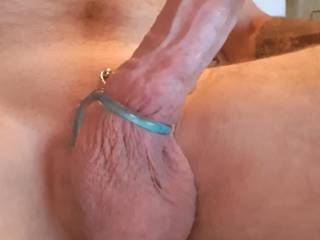Feeling horny cock ring on for a play