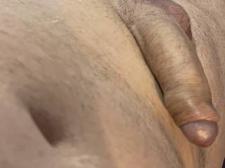 My cock is growing as I get horny  but any one want to help