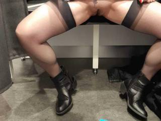 It is just normal for Sally to wear stockings and no knickers... and to send me pictures to share!