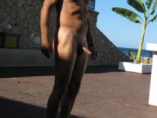 at the beach club