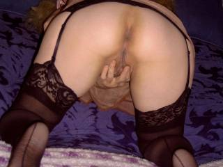 Fantastic sweet little tight ass and gorgeous juicy pussy both so inviting for a mind blowing erotic licking and deep penetrating fucking for orgasm after loud orgasm!  Stay right there, I'm cumming for you now!