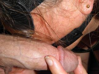 she is  so she can\'t swallow me, yet.