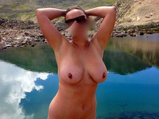 Loely setting for her beautiful body! And, yes, I do like the outdoors the same way you do!