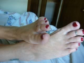Pretty feet of my wife