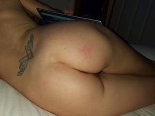 My Princess looking so good just laying in bed watching some videos. She\'s so sexy and soft I can\'t imagine anyone not feeling the same way. She and I are looking for a female for her to play with. Any interest just message us.