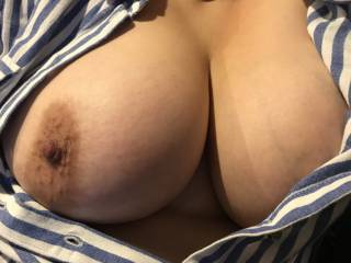 Flashing my boobs at home. What do you think?