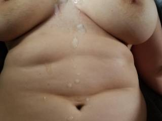 Shot a huge load all over this sexy thick friend!
