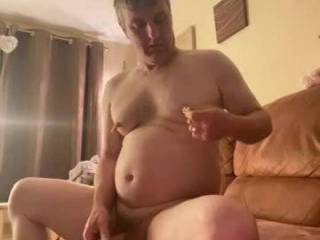 Wanking so horny before bed pegging nipples to make my cock bounce