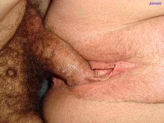 thats a great picr cock is well covered in juice from her pussy lovely