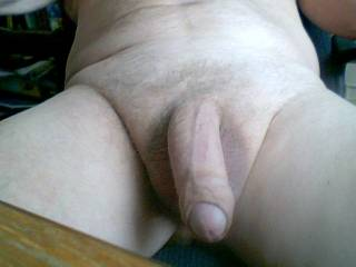 Wow! I can stare at your cock all day! Gorgeous uncut and rather generously endowed cock at that!