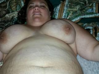 My wife\'s big saggy tits