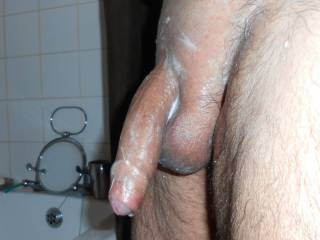 just keeping it shaved and smooth for anyone who likes shaved cock