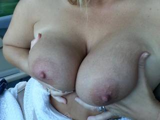 Wish I had some hot cum covering both tits