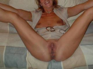 I would try my best. I want to take my time kissing and licking you all over then I would slide my rock hard cock into your sweet pussy and fuck you long and hard leaving at least three load of cum inside you xxxx