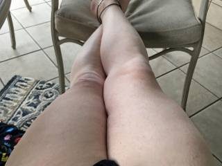 Love the feel of the breeze on my toes and my cock-head!