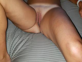 Just finished fucking a friend.  He left me laying here, oozing his cum. Anyone want to join me and clean me up???