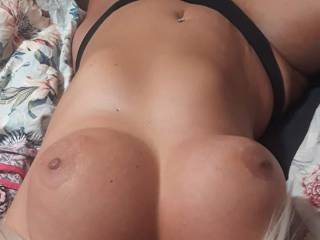Needing a bbc to unload on these tits