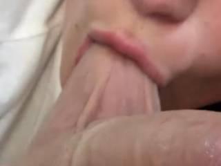 Girl sucking on my balls