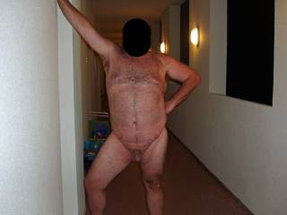Summer \'08 vacation at a condo on the beach!  Soon after this pic hubby got caught in the nude by 3 women.  They enjoyed seeing his cock and I enjoyed seeing him so exposed and embarassed!