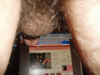 Just a quick shot from behind showing that I'm a genuine member!    Taken 01/08/2009  Any ladies that enjoy rimming their guy are welcome to take the same position!!!