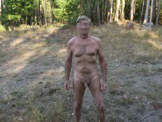 Mr. F enjoying the great outdoors; don\'t you think he\'s pretty hot for almost 72 years old?!  From Mrs. F