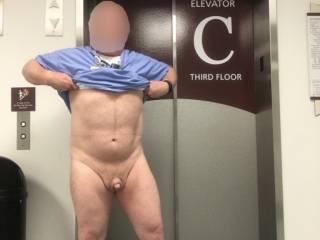 A quick flash at the elevators