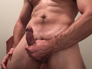 Stroking my hard cock while looking at some sexy friends pics ;)