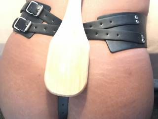 Toy harness, it keeps my vibrator in place, paddle for spanking.