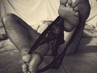 feeling a little frisky wearing a skimpy pair of panties.