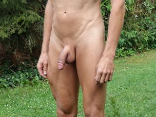 my naked body with flaccid penis and exposed glans