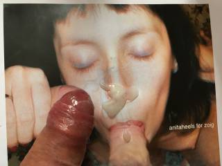 I printed off these super Anitiheels facial shots - and them wanked over them live on Zoig Video Chat while in a private with Anita! Wow - what fun! More to cum.....!