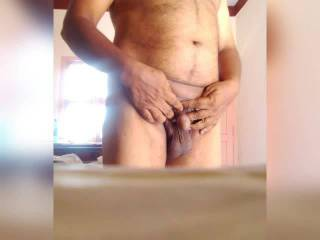 I recorded this video while I masterbate my huge 8 inches cock outdoor and cummed
