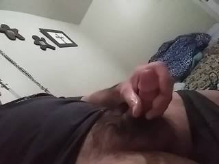 Jerking the fuck off... trying to bust a nut