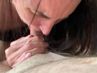 I am addicted to watching her while she uses her talents to suck cock. Do all wives take care of their husbands like she does?