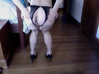 Very sexy in heels and panties. My tongue wants to lick deep in that hot ass of yours.